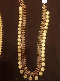 gold long necklace images 50 grams gold long kasu haram south india jewels jpg
