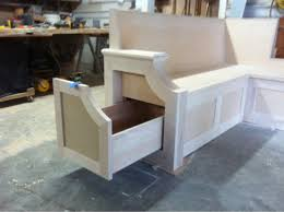 Corner Storage Bench Plans by Kitchen Benches Home Design Styles