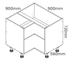 how to measure corner cabinets 900mm corner base cabinet kaboodle kitchen