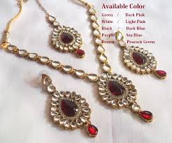 Buy Dazzling Kundan Set In Necklace Sets Online Online Shopping For Necklaces Designs