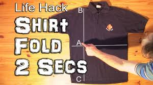 how to fold a shirt in under 2 seconds youtube