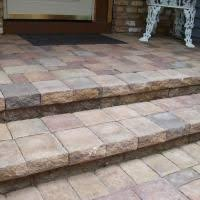 How To Cover A Concrete Patio With Pavers This Is How To Lay The Thin Pavers Concrete Great Idea To
