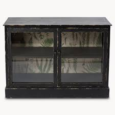 Brookby Black Glass Fronted Buffet