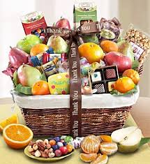 thank you gift baskets thank you fruit gift basket