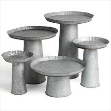 galvanized cake stand charleston wedding and event rentals polished