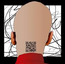 qr code tattoo digital art by casino artist