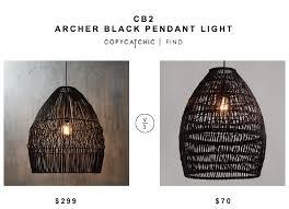 Woven Pendant Light Cb2 Archer Black Pendant Light Copycatchic