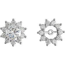 14kt gold earrings 14k gold diamond earring jackets moijey jewelry and diamonds