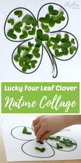 lucky four leaf clover nature collage rhythms of play