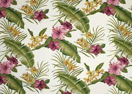 Tropical Upholstery Hamakua White From Barkcloth Hawaii Fabric Shop Shown Here Is A