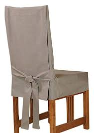 Cotton Dining Chair Covers Amazon Com Sure Fit Cotton Duck Shorty Dining Room Chair Cover