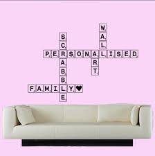 personalised wall decals stickers ebay personalised scrabble wall art vinyl wall art any letters you choose diy