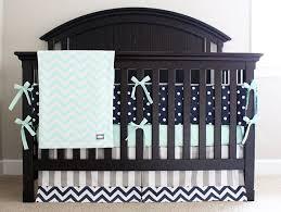 Chevron Boy Crib Bedding Mint Navy Grey Baby Crib Bedding Set Polka Dot Chevron