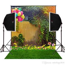 best air balloons garden flowers scenic photography backdrops for