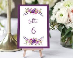 Flower Table Flower Table Numbers Etsy