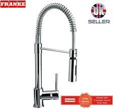 kitchen sink taps uk franke coxy chrome finish mixer tap spring single lever pull out