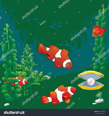 halloween clown background clown fish pearl shell on green stock vector 134806973 shutterstock