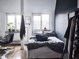 chambre noir et blanc design décoration en noir blanc déco mydecolab