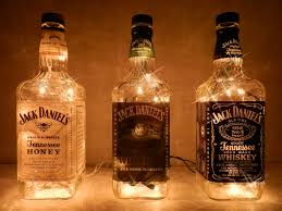Jack Daniels Home Decor This Is Neat Would Have To Wash The Bottles Out Suuuuuuper Good