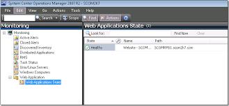 web application management pack template scom maintenance mode