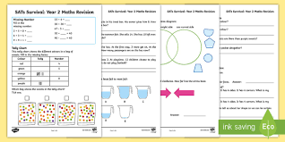 sats survival year 2 maths revision activity sheets sats