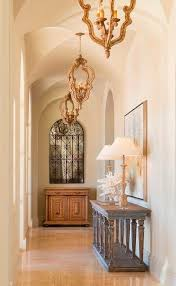sherwin williams restrained gold hall mediterranean with vintage