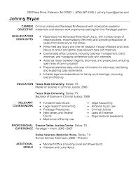 Objective For Law Enforcement Resume Criminal Justice Resume Objective Examples 10 Sample For Law