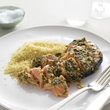 October Dinner Ideas Marinated Salmon Steaks With Couscous