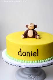 i heart baking banana cream birthday cake with handmade fondant