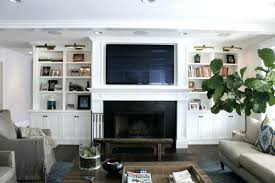 fireplace romantic built in shelves fireplace for living