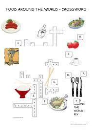 27 free esl food crossword worksheets