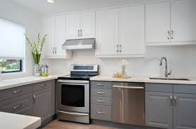 Refinish Kitchen Cabinets White Grey And White Kitchen Cabinets Beautiful Gray Kitchen Cabinets