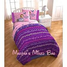 Purple Full Size Comforter Sets Sofia The First Girls Pink Purple Twin Full Size Comforter Set Drapes