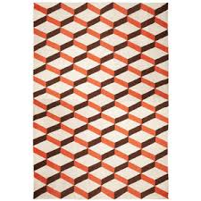 Orange Modern Rug New Modern Rugs Kilim Flatweave Rugs Kravet Area Rugs By