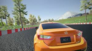 lexus youtube video lexus virtual reality racing game environment superpolygon