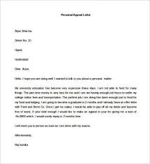 sample personal appeal letter template in word download templatezet