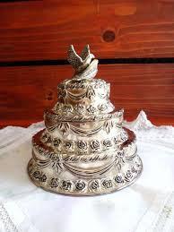 wedding cake jewelry silver wedding cake keepsake box three tier wedding cake jewelry