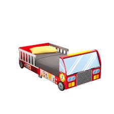 kidkraft fire truck toddler bed toys