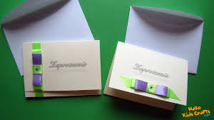 Make Wedding Invitations How To Make Wedding Invitation Card Youtube