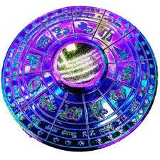 color round zodiac sign design aluminum alloy anti stress fidget