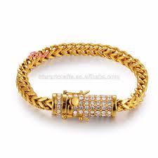 gold clasp bracelet images 6mm 8 5 quot diamond clasp bracelet mens 18k gold plated hip hop jpg