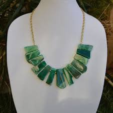 green agate necklace images Shop emerald green statement necklace on wanelo jpg