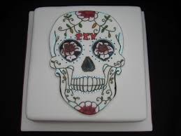 sugar skull birthday cake wendy cakes