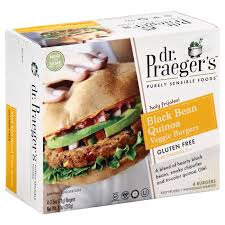 dr praeger u0027s black bean burgers shop meat substitutes at heb