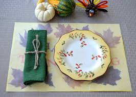 pressed leaf placemats craft