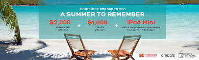 chicos gift card summer to remember sweepstakes