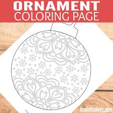 ornament coloring page trail of colors