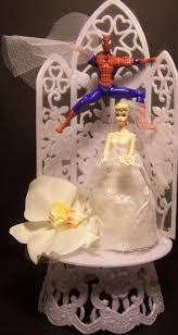 spiderman bride u0026 groom wedding cake topper super hero ebay