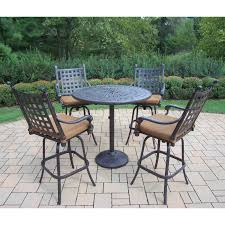 Patio Furniture Bar Height Set - belham living sorrento bar height 5 piece patio dining set hayneedle