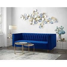 navy blue velvet sofa blue velvet sofas couches for less overstock com
